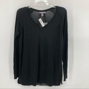 A Pea in the Pod V-Neck Cashmere Blend Sweater